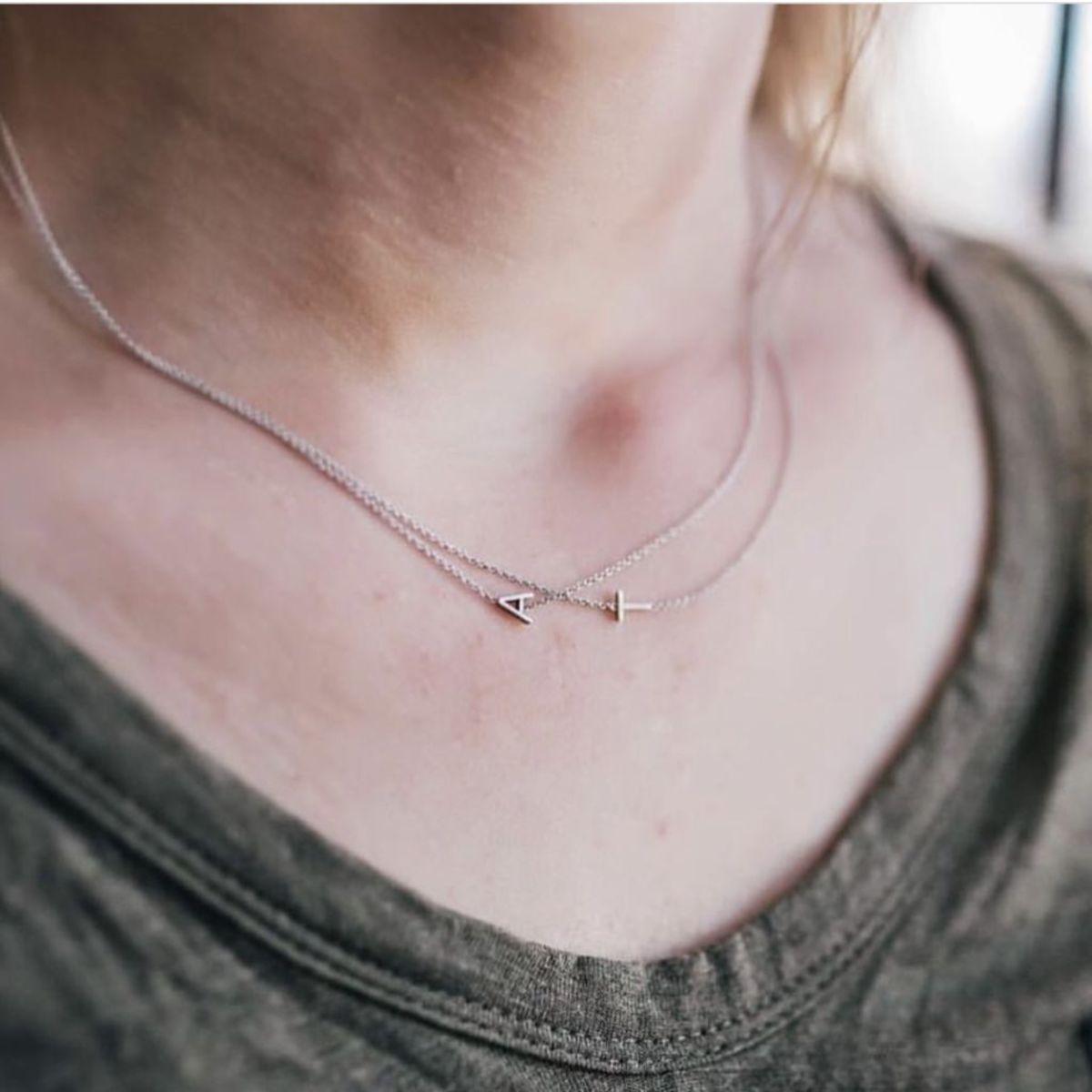 cbb11df93 Maya Brenner 14k Letter Necklace | Garmentory