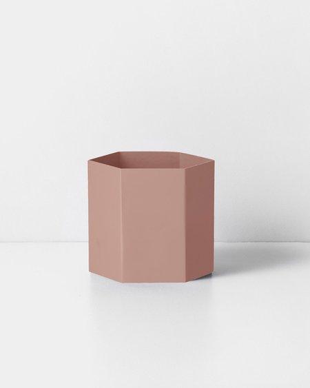 Ferm Living Large Hexagon Pot - Rose