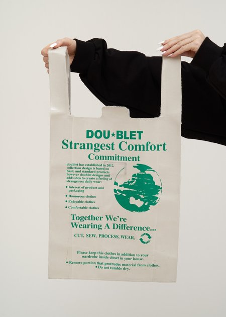 Doublet Leather Supermarket Bag