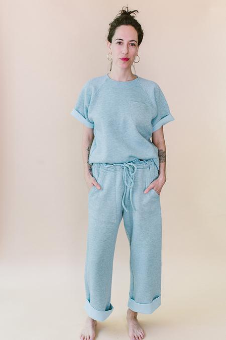 STYLE CAMP Short Sleeved Sweatshirt - Blue