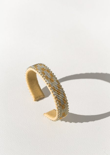 Etkie Lina Glass Cuff - gold/grey/silver
