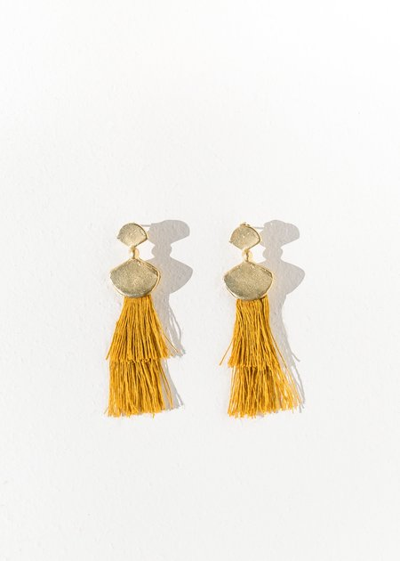 Takara Design Palma Earrings - Mustard