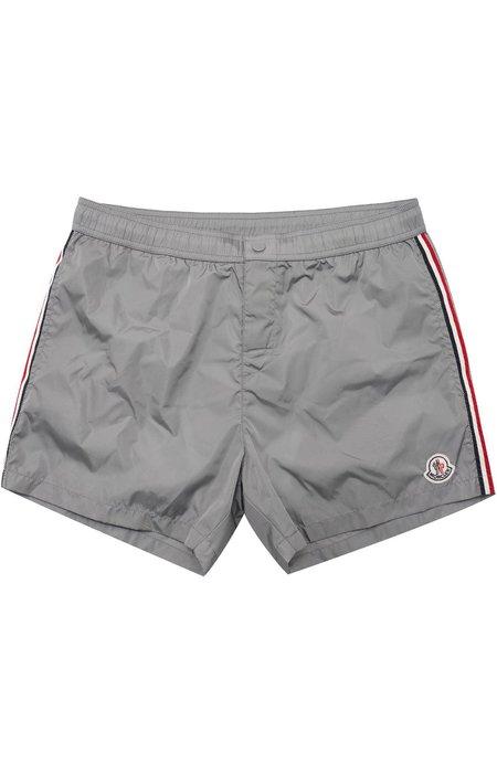 Moncler Side Stripe Swim Shorts - grey