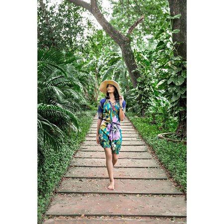 Duet Papaya Jungle Dress - Blue