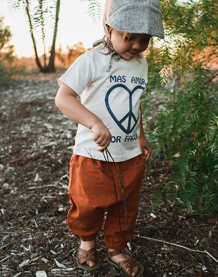 kids Billie Blooms Organic Harem Pants - Rust