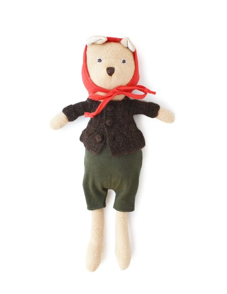 kids Hazel Village Nicholas the Bear Cub Doll in Overalls