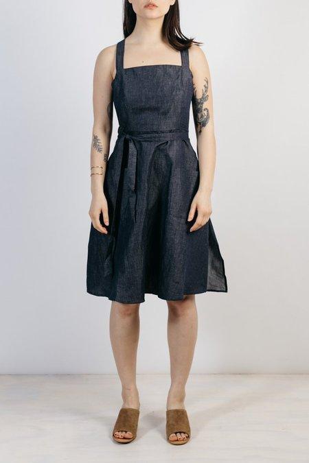 Bridge & Burn Claire Linen Jumper Dress - Denim