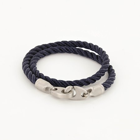 Sailormade Catch Double Rope Bracelet - Navy