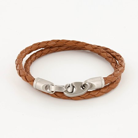 Sailormade Catch Leather Bracelet - Baked Brown