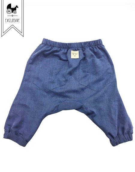 kids Billie Blooms Organic Harem Pants - Indigo
