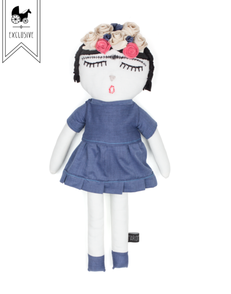 Kids Maroma + Arte Frida Kahlo Doll - Indigo Little Minis Dress