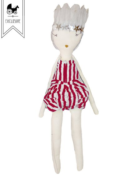 kids Jess Brown x Wovenplay Circus Doll - Raspberry Red