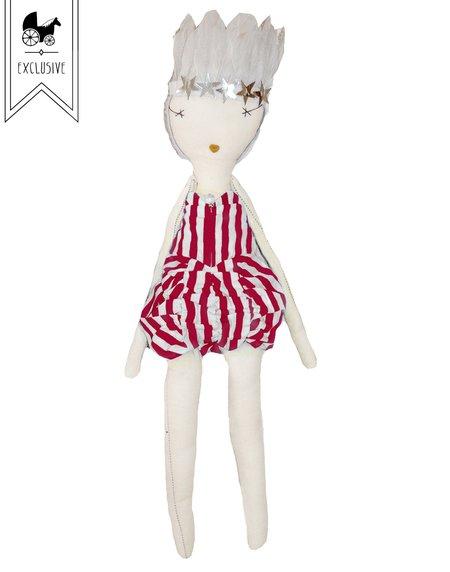 kids Jess Brown x Wovenplay Circus Doll - Raspberry Red