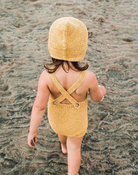 kids Misha & Puff Misha and Puff Starfish Sunsuit - sunshine