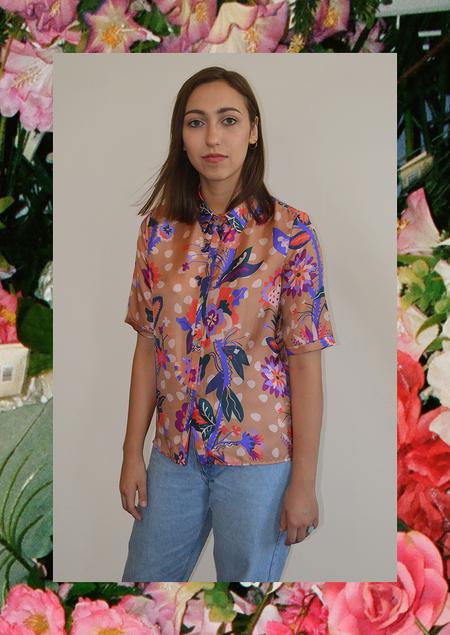 Apalma Vines Button-up Shirt - Tobacco