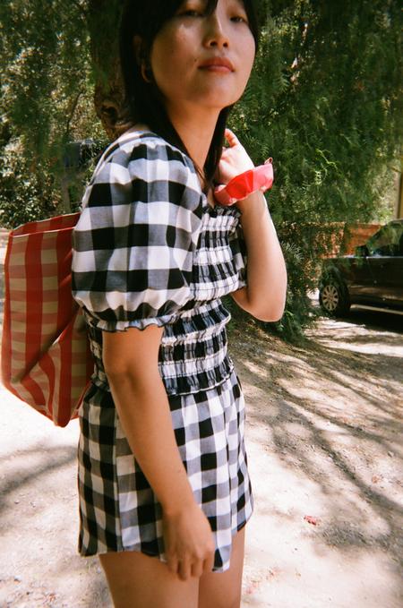 Lisa Says Gah For Garmentory   Toni Top - Black + White Gingham