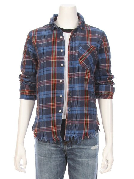 NSF Raw Edge Shirt - Plaid