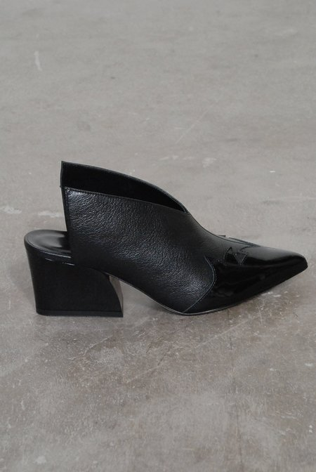 Tibi Floyd Mules Leather Patent - Black