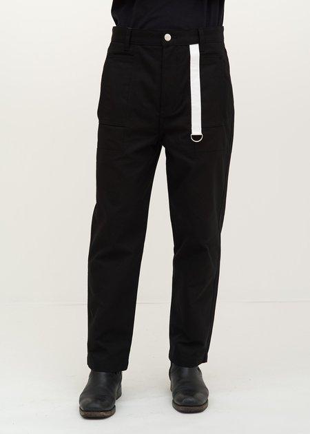 Helmut Lang Cropped Canvas Pant - black