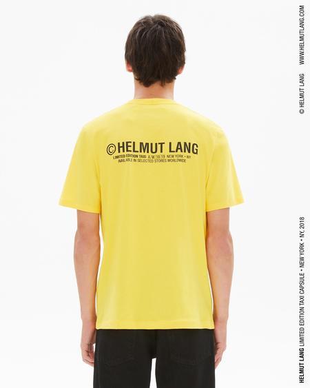 Helmut Lang taxi T-Shirt (New York) - yellow