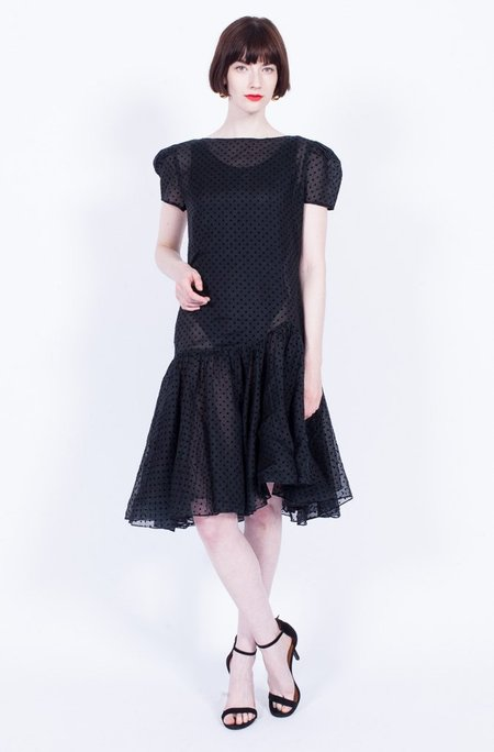 Yo Vintage! Sheer Dress - Polka Dot