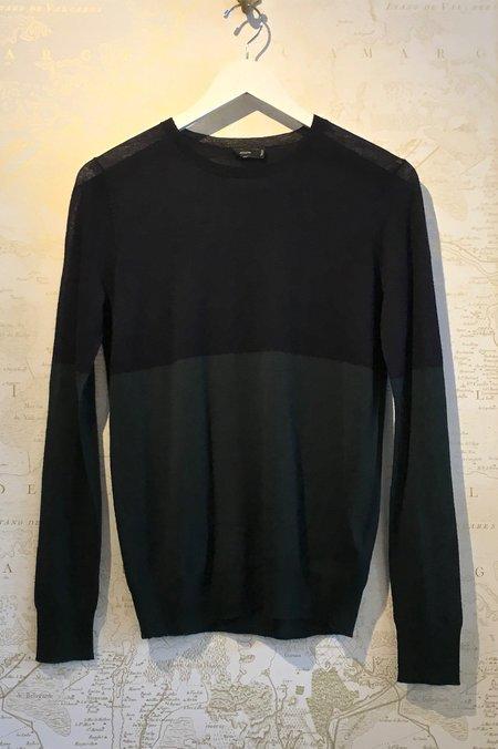 Joseph Crew Neck Colour Block Cashair Knit - black/green