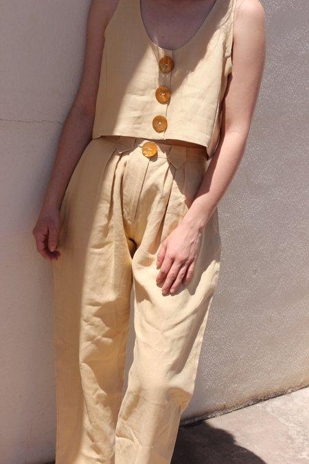 Stil. Pleat Pant - White peach
