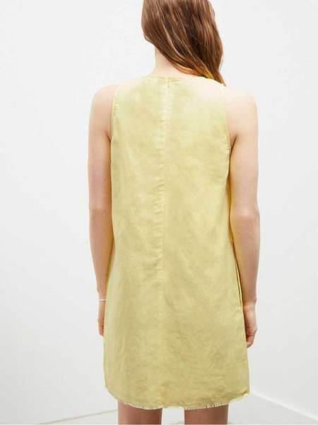 Great Plains Linen Shift Dress - Lemon