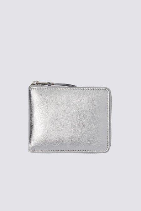 Comme des Garçons Leather Wallet - Silver