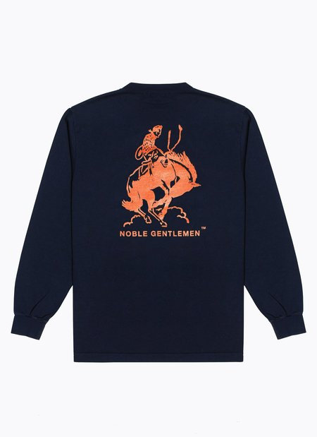 Noble Gentlemen Bronco Long Sleeve Tee - NAVY