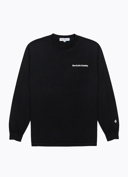 Noble Gentlemen Cowboy Long Sleeve Tee - BLACK