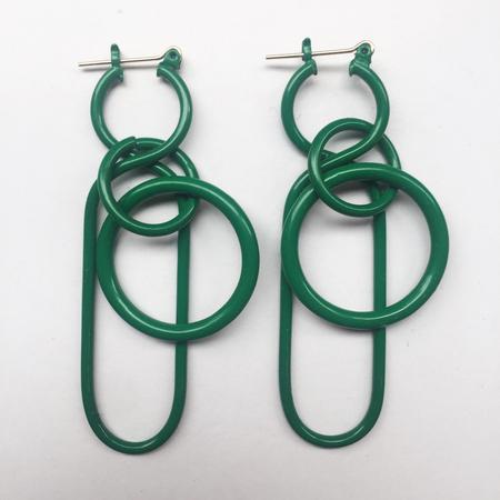 A Détacher Fern Earrings in Green