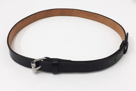 A Détacher Simple Belt in Dark Brown Leather