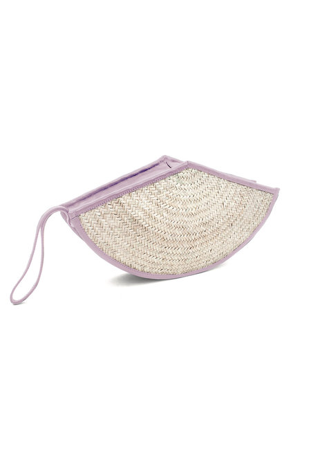 Parme Marin Straw-Ling Small Fan Bag