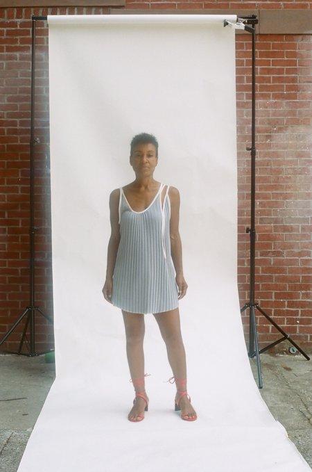 Kahle Pleated Tank Dress - Grey