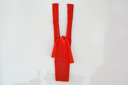 KNA Plus Large Vertical Pleated Bag - Red
