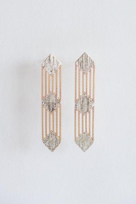 Hannah Keefe Tricycle Earrings - Brass/Silver