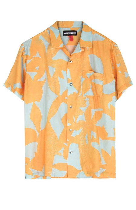 Double Rainbouu Sun Children Short Sleeve Hawaiian Shirt