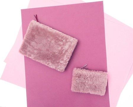 Primecut Sheepskin Clutch - Lilac