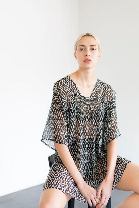 Samuji Wanda Dress - Black/Ecru