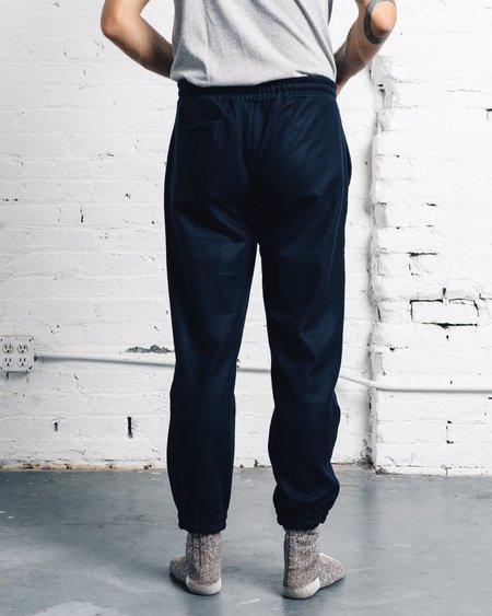 Norse Projects Linnaeus Wool Sweatpants - Navy