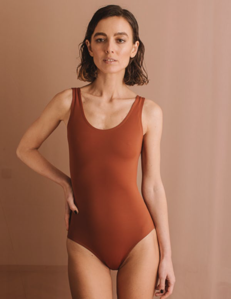 Collar Gala one piece swim - brick