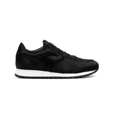 Wings + Horns Calf Hair Trainer - Black