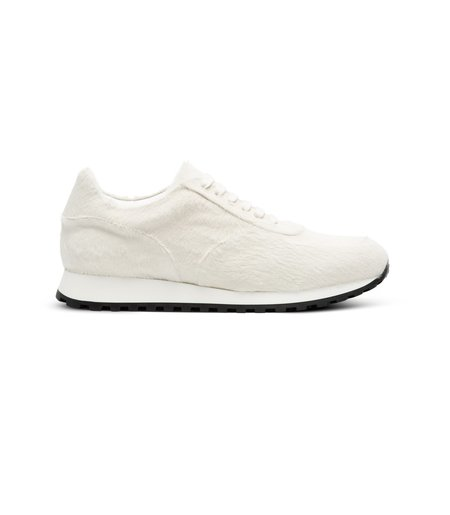 Wings + Horns Calf Hair Trainer - White