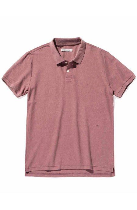 Outerknown Nomadic Short Sleeve Polo - Aster