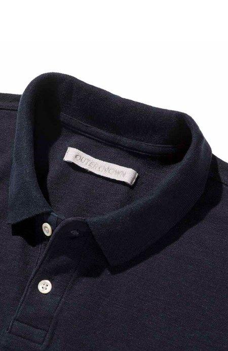 Outerknown Nomadic Short Sleeve Polo - Indigo