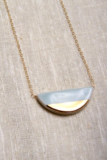 Zoe Comings Half Pebble Necklace - Blue