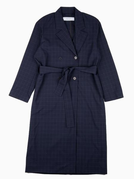 Norse Projects Alvira Grid Trench - Dark Navy