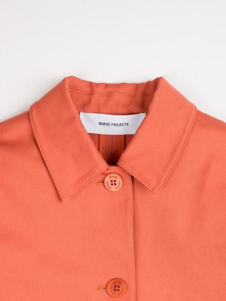 Norse Projects Rositta Cotton Twill Jacket - Rust