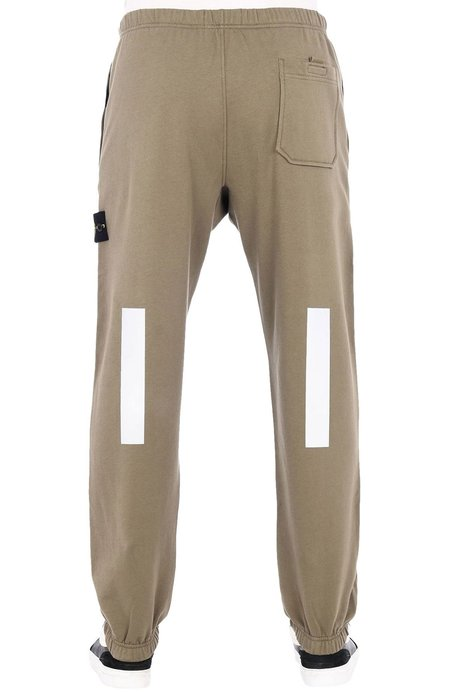 Stone Island Fleece Sweatpant with Reflective Detail - Olive